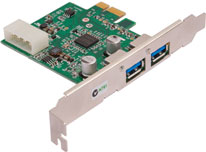 2-port USB 3.0 PCI-e card
